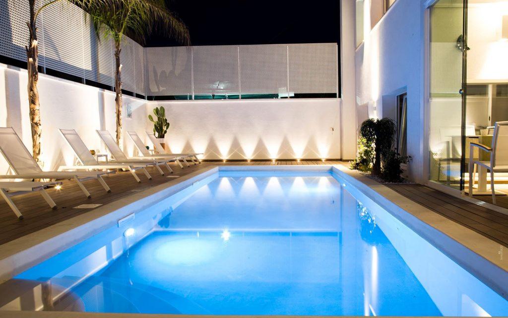 la dimora delle fate piscina sera