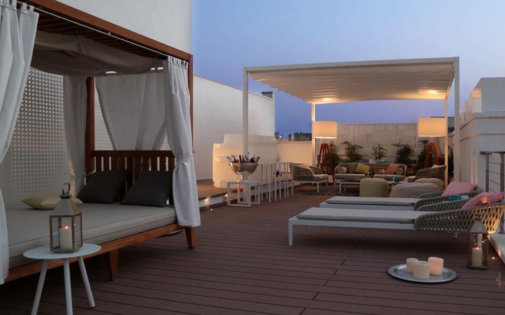 la dimora delle fate roof garden tramonto